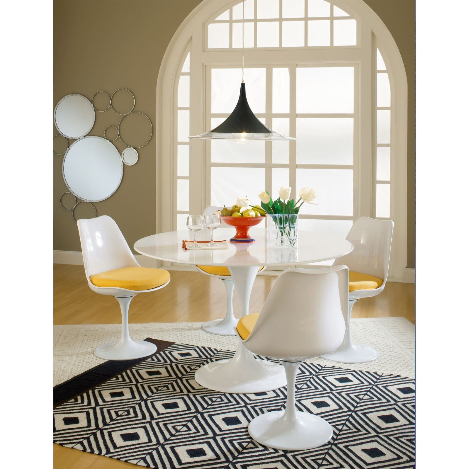 Tulip Dining Chair With Fabric Seat - Yellow New York's ...