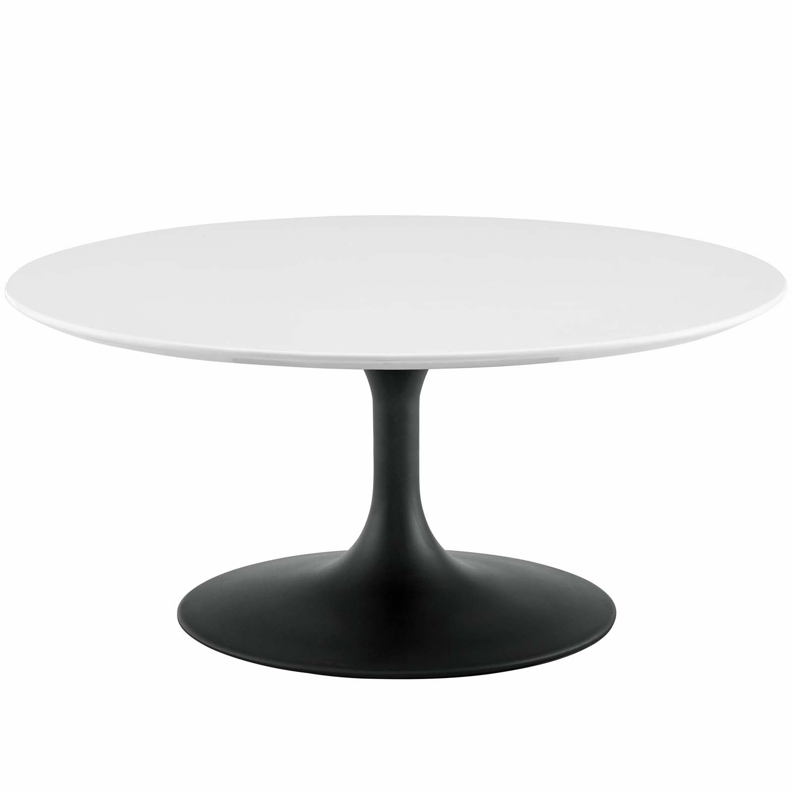 Tulip 36 Quot Round Wood Coffee Table With Black Base New York