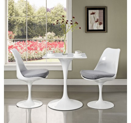 """Tulip 24"""" Square Wood Top Dining Table"""