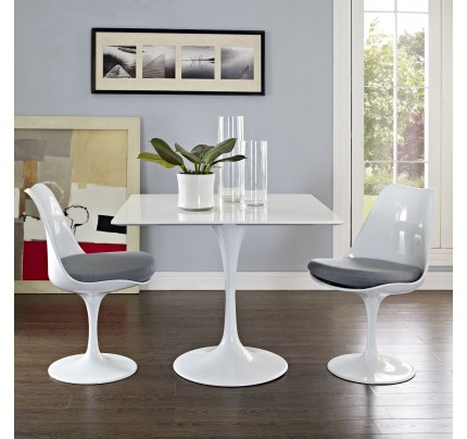 """Tulip 36"""" Square Wood Top Dining Table"""