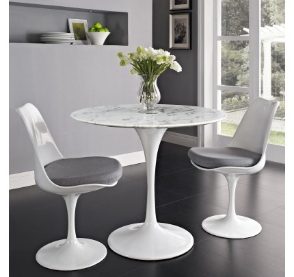 "Tulip 36"" Round Marble Dining Table"