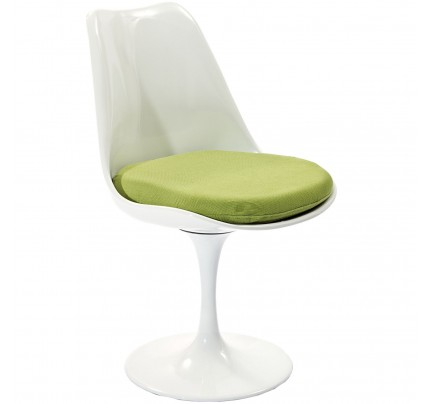 Tulip Dining Chair With Fabric Seat - Green