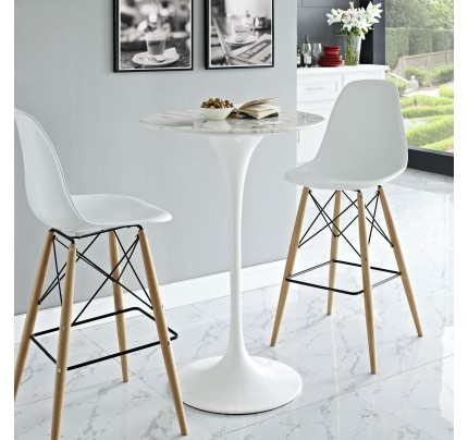 """Tulip 28"""" Round Marble Bar Table"""
