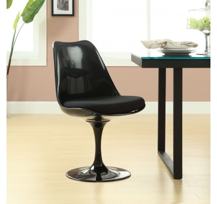 Tulip Dining Side Chair - Black