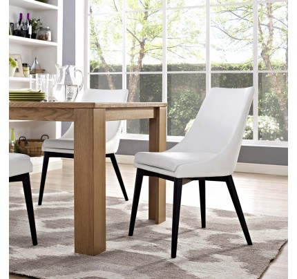 Viscount Vinyl Dining Chair - White