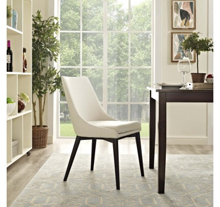 Viscount Fabric Dining Chair - Beige