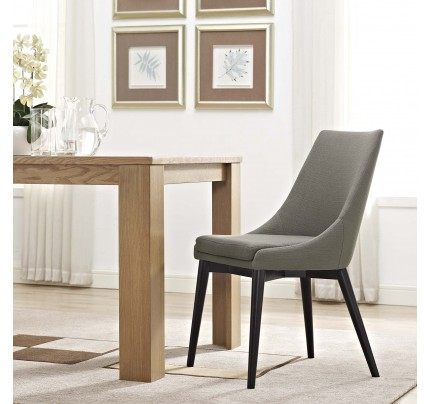 Viscount Fabric Dining Chair - Granite
