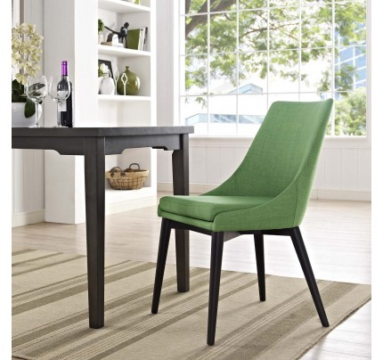 Viscount Fabric Dining Chair - Kelly Green