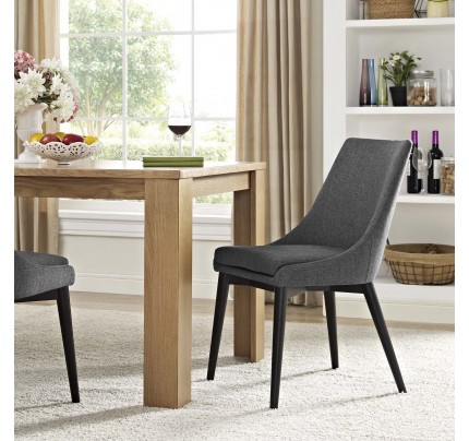 Viscount Fabric Dining Chair - Gray