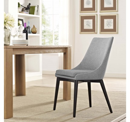 Viscount Fabric Dining Chair - Light Gray