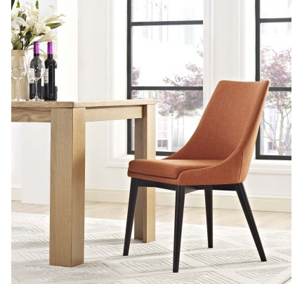 Viscount Fabric Dining Chair - Orange
