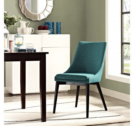 Viscount Fabric Dining Chair - Teal