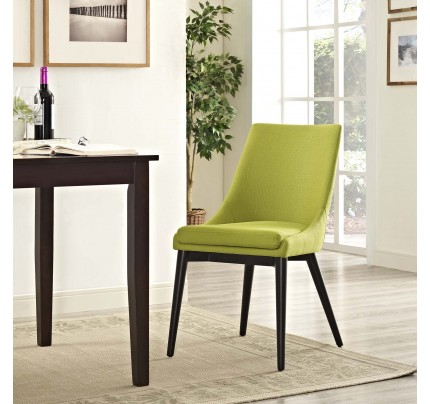 Viscount Fabric Dining Chair - Wheatgrass