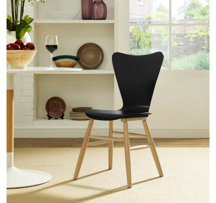 Cascade Wood Dining Chair - Black