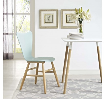 Cascade Wood Dining Chair - Light Blue