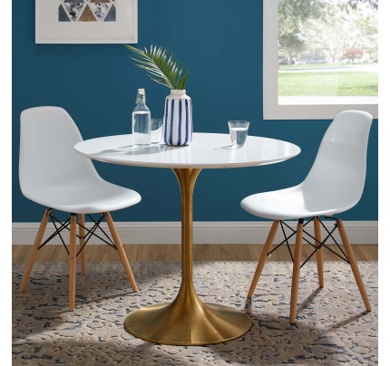 "Tulip 36"" Round Wood Dining Table"