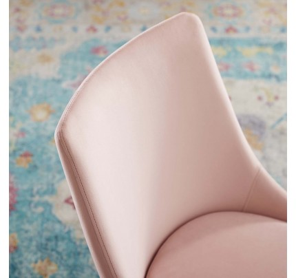 Viscount Modern Accent Performance Velvet Dining Chair - Pink
