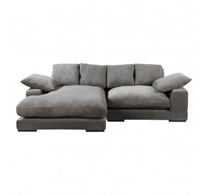 Aurelle Reversible Deep Seat Contemporary Sectional Sofa Charcoal Gray